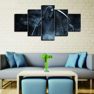 Fear The Reaper 5 Panels Wood N Canvas Wall Art Paintings