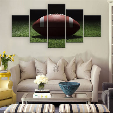 Football 5 Panel Wall Art Canvas Painting 5 Panels Wood N Canvas Wall Art Paintings