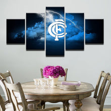 Load image into Gallery viewer, Football Sport 5 Panels Wood N Canvas Wall Art Paintings