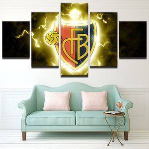 Football Sport Club CFB 5 Panels Wood N Canvas Wall Art Paintings