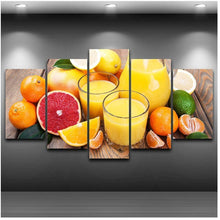 Load image into Gallery viewer, Fruit 5 Panels Wood N Canvas Wall Art Paintings