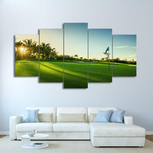 Load image into Gallery viewer, Golf Early 5 Panels Wood N Canvas Wall Art Paintings
