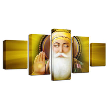 Load image into Gallery viewer, Guru Nanak 5 Panels Wood N Canvas Wall Art Paintings