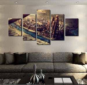 Game Of Thrones Castle 5 Panels Wood N Canvas Wall Art Paintings
