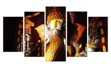 Load image into Gallery viewer, Ganesha Gold 5 Panels Wood N Canvas Wall Art Paintings