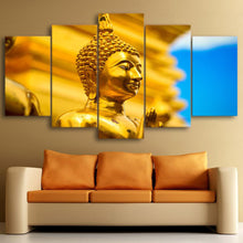 Load image into Gallery viewer, Gold Buddha 5 Panels Wood N Canvas Wall Art Paintings