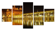 Load image into Gallery viewer, Golden Temple At Midnight 5 Panels Wood N Canvas Wall Art Paintings