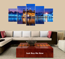Load image into Gallery viewer, Golden Temple Drawing 5 Panels Wood N Canvas Wall Art Paintings