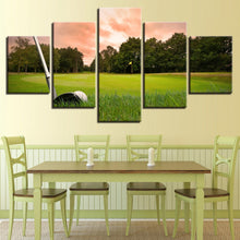 Load image into Gallery viewer, Golf 5 Panels Wood N Canvas Wall Art Paintings