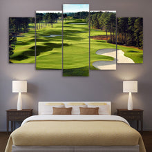 Load image into Gallery viewer, Golf Course Wall Art 5 Panel Wall Art Canvas Painting 5 Panels Wood N Canvas Wall Art Paintings