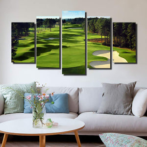 Golf Course Wall Art 5 Panel Wall Art Canvas Painting 5 Panels Wood N Canvas Wall Art Paintings