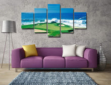 Load image into Gallery viewer, Golf course by the sea 5 Panels Wood N Canvas Wall Art Paintings
