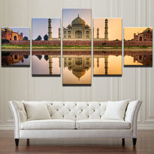 Load image into Gallery viewer, Gorgeous Islamic Mosque Castle 5 Panels Wood N Canvas Wall Art Paintings
