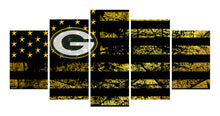 Load image into Gallery viewer, Green Bay Packers logo 5 Panels Wood N Canvas Wall Art Paintings