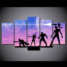 Load image into Gallery viewer, Guardians Of The Galaxy 5 Panels Wood N Canvas Wall Art Paintings