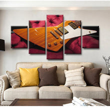 Load image into Gallery viewer, Guitar Explorer 5 Panels Wood N Canvas Wall Art Paintings