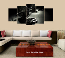 Load image into Gallery viewer, Gym Barbells 5 Panels Wood N Canvas Wall Art Paintings