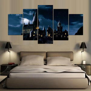 Movie Castle-3 5 Panels Wood N Canvas Wall Art Paintings
