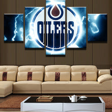 Load image into Gallery viewer, Ice Hockey Sport-1 5 Panels Wood N Canvas Wall Art Paintings