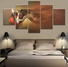 Load image into Gallery viewer, Indians Girl And Horse 5 Panels Wood N Canvas Wall Art Paintings