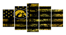 Load image into Gallery viewer, Iowa Hawkeyes logo 5 Panels Wood N Canvas Wall Art Paintings
