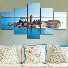 Load image into Gallery viewer, Island Around By Ocean 5 Panels Wood N Canvas Wall Art Paintings