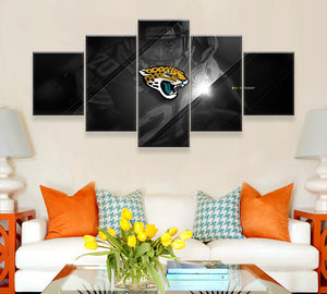 Jacksonville Jaguars 5 Panels Wood N Canvas Wall Art Paintings