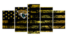 Load image into Gallery viewer, Jacksonville Jaguars logo 5 Panels Wood N Canvas Wall Art Paintings