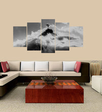 Load image into Gallery viewer, Jesus-4 5 Panels Wood N Canvas Wall Art Paintings