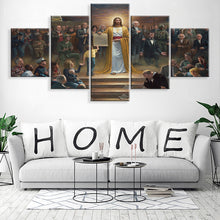 Load image into Gallery viewer, Jesus Message 5 Panels Wood N Canvas Wall Art Paintings