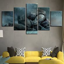 Load image into Gallery viewer, Kneeling White Soldiers 5 Panels Wood N Canvas Wall Art Paintings