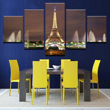 Load image into Gallery viewer, La Tour Eiffel 5 Panels Wood N Canvas Wall Art Paintings