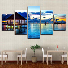 Load image into Gallery viewer, Lake Landscape 5 Panels Wood N Canvas Wall Art Paintings