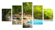 Load image into Gallery viewer, Lake Tree 5 Panels Wood N Canvas Wall Art Paintings
