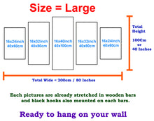 Load image into Gallery viewer, Buddha big 5 Panels Wood N Canvas Wall Art Paintings