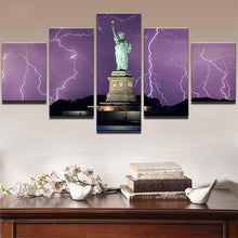 Load image into Gallery viewer, Liberty Lightning 5 Panels Wood N Canvas Wall Art Paintings