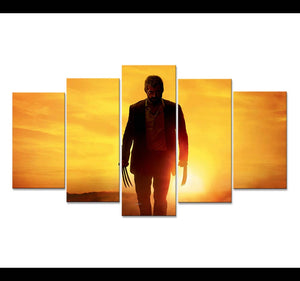 Logan 5 Panels Wood N Canvas Wall Art Paintings