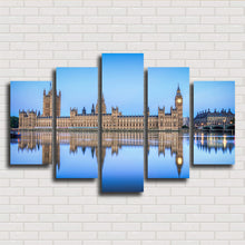 Load image into Gallery viewer, London City And Lake 5 Panels Wood N Canvas Wall Art Paintings