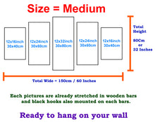 Load image into Gallery viewer, Purple Hearts 5 Panels Wood N Canvas Wall Art Paintings