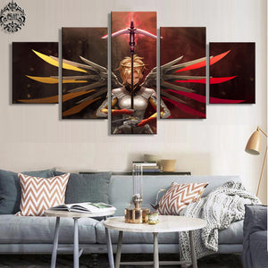 Mercy 5 Panels Wood N Canvas Wall Art Paintings