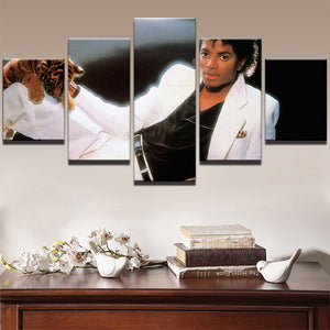 Michael Jackson 5 Panels Wood N Canvas Wall Art Paintings