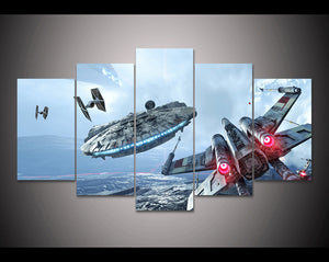 Star War 5 Panels Wood N Canvas Wall Art Paintings