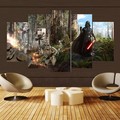Movie Poster-6 5 Panels Wood N Canvas Wall Art Paintings