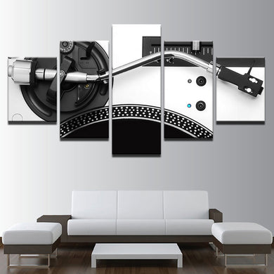 Music 5 Panels Wood N Canvas Wall Art Paintings