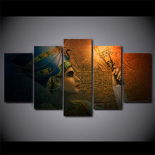 Load image into Gallery viewer, Nefertiti 5 Panels Wood N Canvas Wall Art Paintings