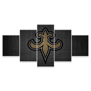 New Orleans Saints 5 Panels Wood N Canvas Wall Art Paintings