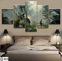 Load image into Gallery viewer, NieR Automata 2B 5 Panels Wood N Canvas Wall Art Paintings