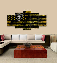 Load image into Gallery viewer, Oakland Raiders logo 5 Panels Wood N Canvas Wall Art Paintings