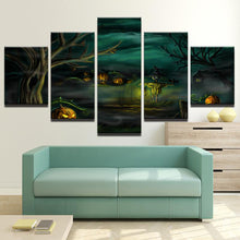Load image into Gallery viewer, October 31st 5 Panels Wood N Canvas Wall Art Paintings