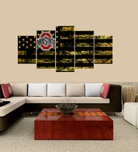 Load image into Gallery viewer, Ohio State Buckeyes logo 5 Panels Wood N Canvas Wall Art Paintings